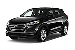 2016 Hyundai Tucson SE 5 Door Suv Angular Front stock photos of front three quarter view