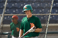 July 19, 2007: Boise Hawks' Kyler Burke exits the batting cage prior to playing the Everett AquaSox in a Northwest League game at Everett Memorial Stadium in Everett, Washington.