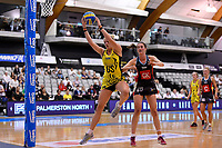 Central Manawa&rsquo;s Rochelle Fourie in action during the Beko Netball League - Central Manawa v Hellers Mainland at Fly Palmy Arena, Palmerston North, New Zealand on Sunday 10 March 2019. <br /> Photo by Masanori Udagawa. <br /> www.photowellington.photoshelter.com