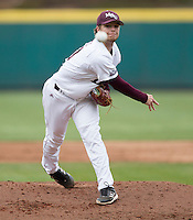 Nick Petree (10) of the Missouri State Bears delivers a pitch during a game against the Northwestern Wildcats at Hammons Field on March 8, 2013 in Springfield, Missouri. (David Welker/Four Seam Images)