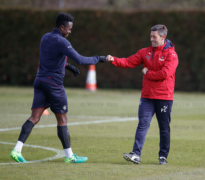 Best buddies: Joe Dodoo and Pedro Caixinha