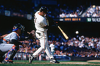 SAN FRANCISCO, CA - Jeff Kent of the San Francisco Giants bats against the New York Mets at Pacific Bell Park in San Francisco, California in 2000. (Photo by Brad Mangin)