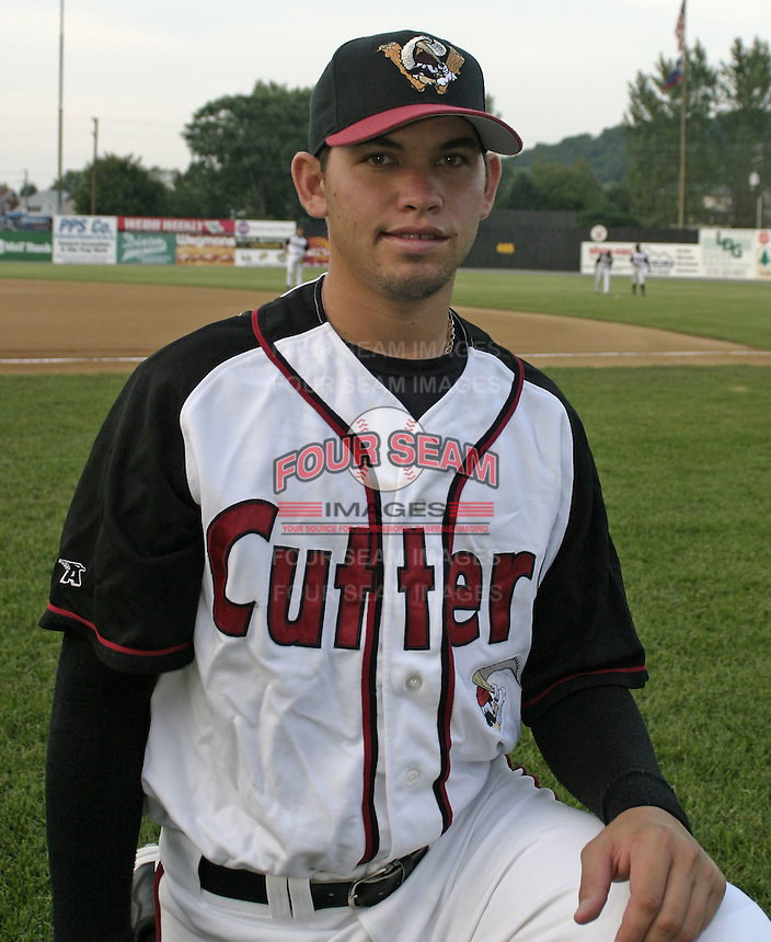 September 3, 2004:  Victor Ramos of the Williamsport Crosscutters during a game at Bowman Field in Williamsport, PA.  Williamsport is the Short Season Single-A NY-Penn League affiliate of the Pittsburg Pirates.  Photo By Mike Janes/Four Seam Images