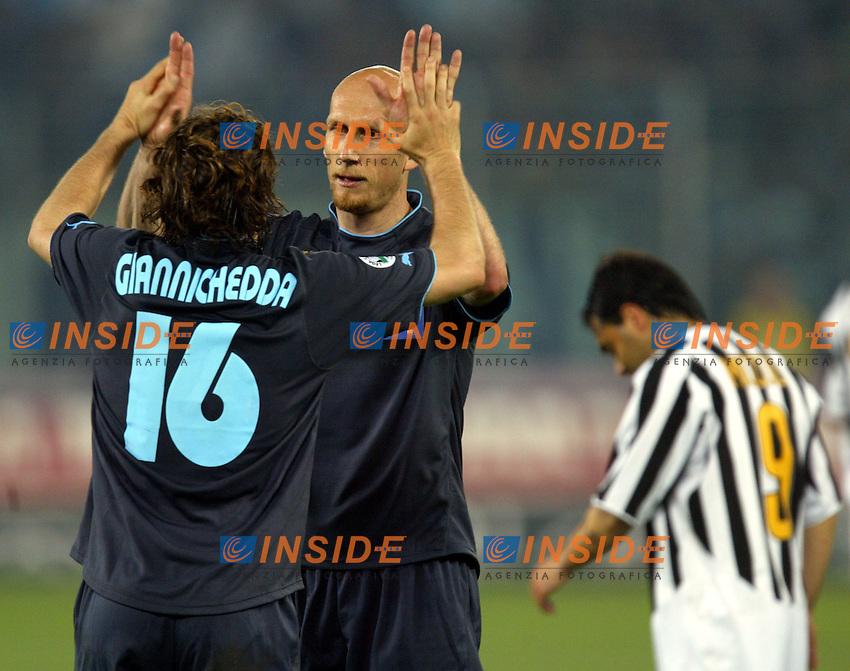 Torino 12/5/2004 Italy Cup final <br /> Juventus - Lazio 2-2 <br /> Jaap Stam e Giuliano Giannichedda (Lazio)<br /> Photo Insidefoto