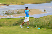 Paul Coughlan (Moate) on the 9th tee during Round 3 of The South of Ireland in Lahinch Golf Club on Monday 28th July 2014.<br /> Picture:  Thos Caffrey / www.golffile.ie