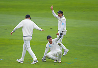 NZ's BJ Watling celebrates a catch on day three of the international cricket match between NZ Black Caps and Bangladesh at the Basin Reserve in Wellington, New Zealand on Sunday, 10 March 2019. Photo: Dave Lintott / lintottphoto.co.nz