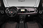 Stock photo of straight dashboard view of a 2018 Fiat 500L Lounge 5 Door Mini Van