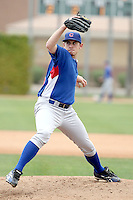 Zach Rosscup of the Chicago Cubs pitches in an intrasquad game at Fitch Park, the Cubs minor league complex, on March 21, 2011  in Mesa, Arizona. .Photo by:  Bill Mitchell/Four Seam Images.