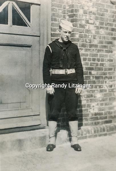 Wade Litzinger in dress blues - 1943?