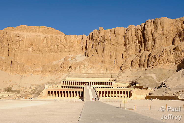 Near Luxor, Egypt, the Temple of Hatshepsut, who was the fifth pharaoh of the eighteenth dynasty of Ancient Egypt. She is generally regarded by Egyptologists as one of the most successful pharaohs, reigning longer than any other woman of an indigenous Egyptian dynasty. The temple was the site of a 1997 attack by an Islamist extremist group that killed 63 tourists inside.