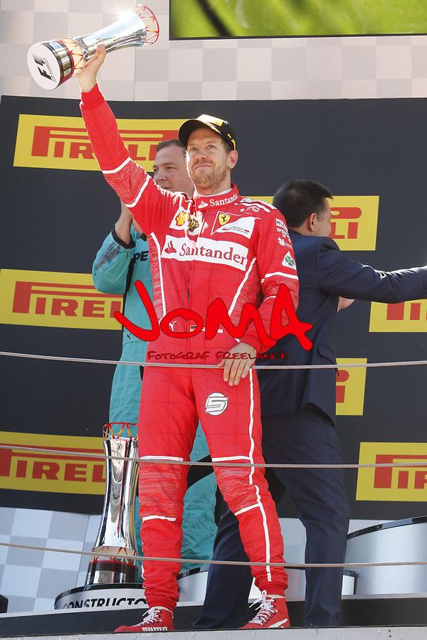 Sebastian Vettel (GER) Ferrari second of  Formula 1, Spanish Grand Prix, Barcelona.