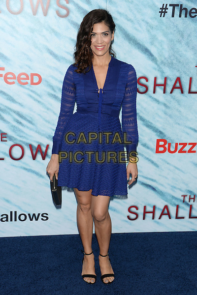 NEW YORK, NY - JUN 21: Laura Gomez attends the World Premiere of &quot;The Shallows&quot; at the AMC Loews Lincoln Square Cinemas on June 21, 2016 in NEW YORK CITY.<br /> CAP/LNC/TOM<br /> &copy;TOM/LNC/Capital Pictures