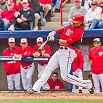7 March 2015: Washington Nationals infielder Emmanuel Burriss in Spring Training action against the St. Louis Cardinals at Space Coast Stadium in Viera, Florida. The Nationals rallied to defeat the Cardinals 6-5 in Grapefruit League play. Mandatory Credit: Ed Wolfstein Photo *** RAW (NEF) Image File Available ***