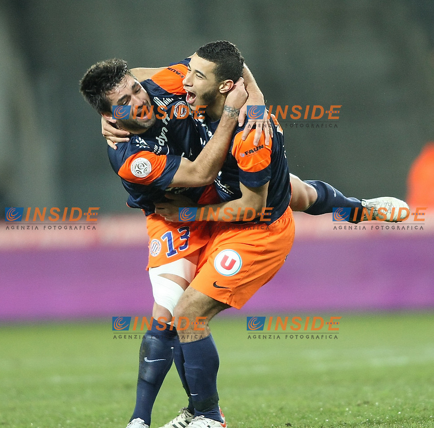 but de estrada montpellier joie .Football Calcio 2012/2013.Ligue 1 Francia.Foto Panoramic / Insidefoto .ITALY ONLY