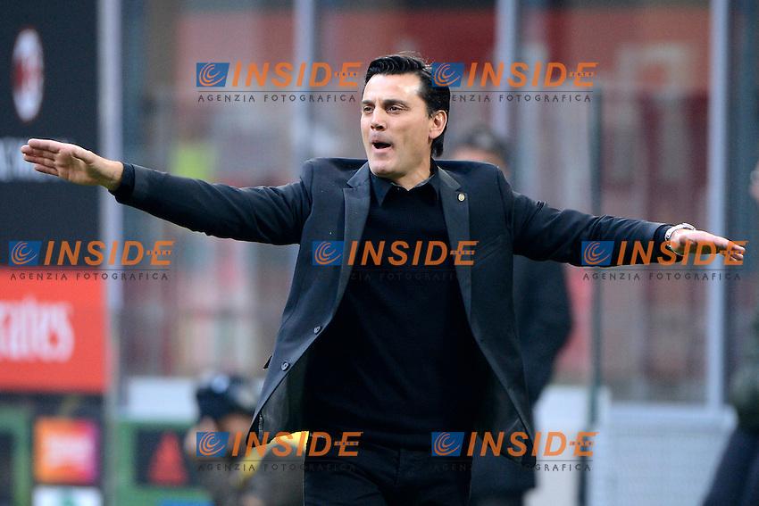 Vincenzo Montella allenatore Milan coach<br /> Milano 30-10-2016 Stadio Giuseppe Meazza - Football Calcio Serie A Milan - Pescara. Foto Giuseppe Celeste / Insidefoto