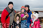 Sandy shoes<br /> -----------------<br /> Having great fun at the Ballyheigue beach horse racing last Dec 27th were Tralee family of adrain, Eloise, Liam, Aine&amp;Niamh Rowe.