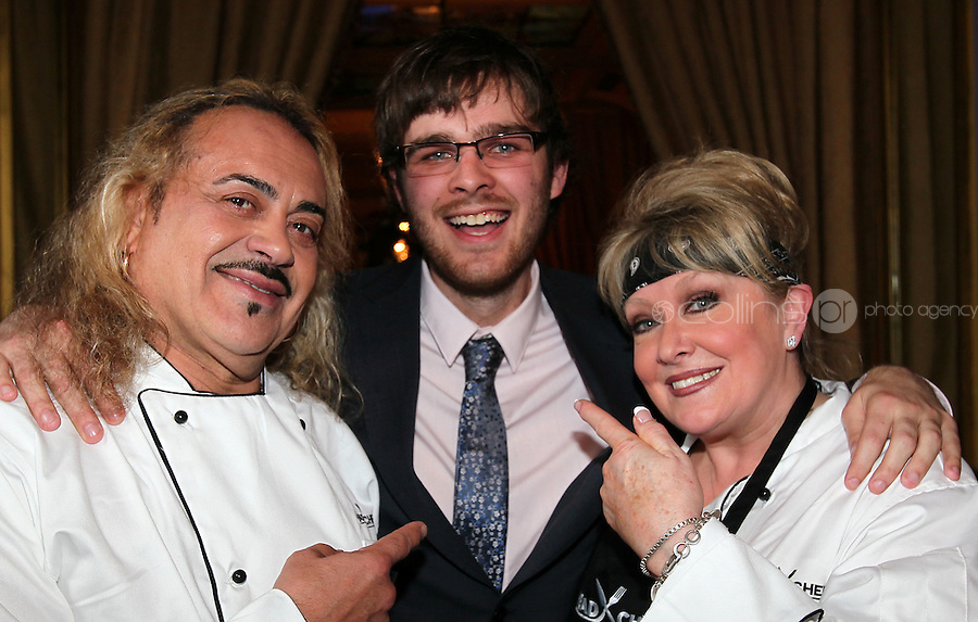 21/06/'11 Sunday Mirror Journalist, Samuel with contestants, Adel King and  Wagner  participating in  TV3's Celebrity Head Chef series pictured in his  'Dining Room' Restaurant...NO REPRODUCTION FEE PIC...Picture Colin Keegan, Collins, Dublin.