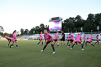 Cary, North Carolina  - Saturday September 09, 2017: Jaelene Hinkle prior to a regular season National Women's Soccer League (NWSL) match between the North Carolina Courage and the Houston Dash at Sahlen's Stadium at WakeMed Soccer Park. The Courage won the game 1-0.