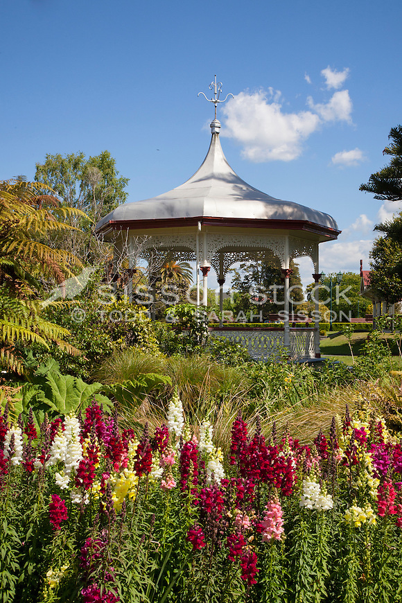 Pavillion, Government Gardens, Rotorua, New Zealand - stock photo, canvas, fine art print