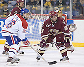 (Mike Brennan, Cory Schneider) Rene Gauthier, Benn Ferreiro - The University of Massachusetts-Lowell River Hawks defeated the Boston College Eagles 6-3 on Saturday, February 25, 2006, at the Paul E. Tsongas Arena in Lowell, MA.