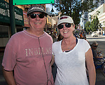 Dave and Laurie Bolt from Reno during the Hot August Nights Parade in downtown Reno on Sunday, August 13, 2017.