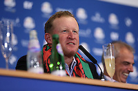 Jamie Donaldson (EUR) at  the final European Team Press Conference after Sunday's Singles at the 2014 Ryder Cup from Gleneagles, Perthshire, Scotland. Picture:  David Lloyd / www.golffile.ie
