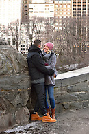 A romantic engagement portrait in Central Park