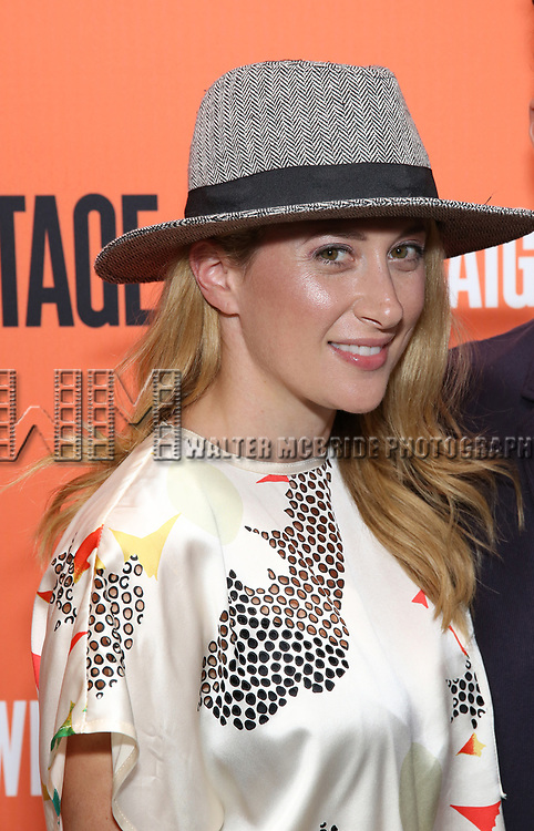 Caissie Levy attends the Opening Night Performance of 'Straight White Men' at the Hayes Theatre on July 23, 2018 in New York City.