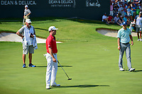 Zach Johnson (USA) reacts to barely missing his putt on 18 during round 2 of the Dean &amp; Deluca Invitational, at The Colonial, Ft. Worth, Texas, USA. 5/26/2017.<br /> Picture: Golffile | Ken Murray<br /> <br /> <br /> All photo usage must carry mandatory copyright credit (&copy; Golffile | Ken Murray)