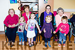 Preschool children joined their senior citizens for some Salsa dancing in Castleisland Daycare on Monday morning  l-r Annie Lane, Ayla Horgan, Catherine Horan, Aoibheann O'connor, Susan O'mahony, Julie Pinch, Nora Broderick anmd Nora Broderick