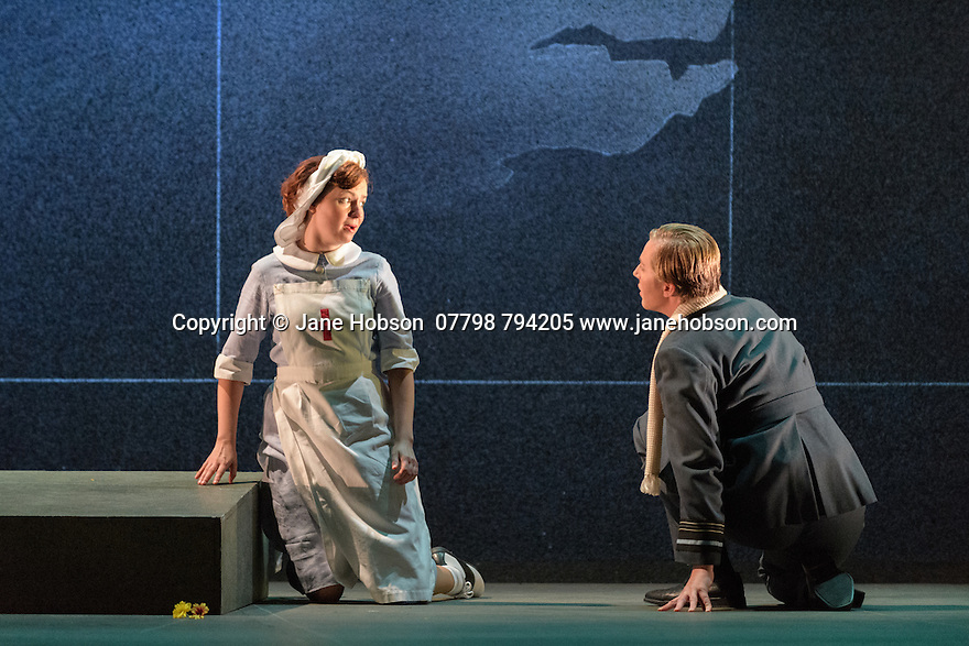 English Touring Opera presents XERXES, by George Frideric Handel, at the Hackney Empire, prior to setting off on a UK tour. Picture shows: Galina Averina (Atalanta), Julia Riley (Xerxes)