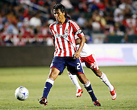 Chivas USA defender, Claudio Suarez(2) makes a pass  during the 1st half. Chivas USA  took on the NY Red Bulls on June 28, 2008 at the Home Depot Center in Carson, CA. The game ended in a 1-1 tie.