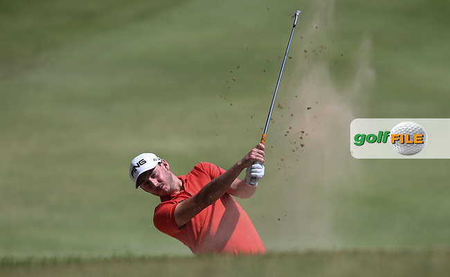 Matthew Nixon (ENG) in the fairway bunker on the first during Round One of the Africa Open 2015 at the East London Golf Club, East London, Eastern Cape, South Africa. Picture:  David Lloyd / www.golffile.ie. 05/03/2015