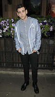 Jay Camilleri.attended the Kensington Club new boutique nightclub launch party, The Kensington Club, High Street Kensington, London, England,.20th July 2012..full length checked gingham blue white shirt hoodie black trousers  boots .CAP/CAN.©Can Nguyen/Capital Pictures.