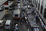 A general view of street vendors with their wares in Old Cairo April 20, 2014. Photo by Mohammed Bendari