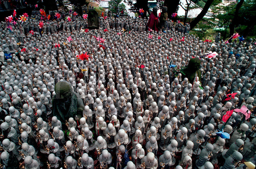 Guardian Buddhas of children, Kamakura, Japan