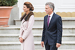 Juliana Awada and president of Argentinian Republic Mauricio Macri during meeting with president of Argentinian Republic, Sr. Mauricio Macri and Sra Juliana Awada at Real Palace in Madrid, Spain. February 19, 2017. (ALTERPHOTOS/BorjaB.Hojas)