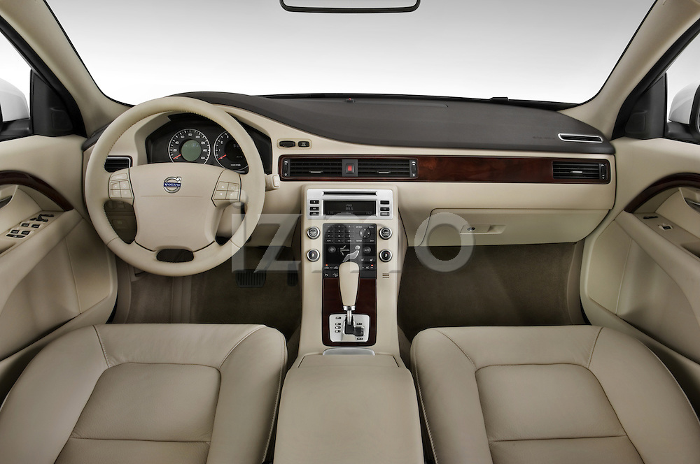 Straight dashboard view of a 2008 Volvo XC 70.