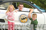 ..DRIVE: Sean Morrissy Ballyard Tralee who drove the 26counties over the week end for Children Hospital Crumlin, Sean with his sister and brother Valda and Conor Morrissy asd he arrived home after his long drive.....