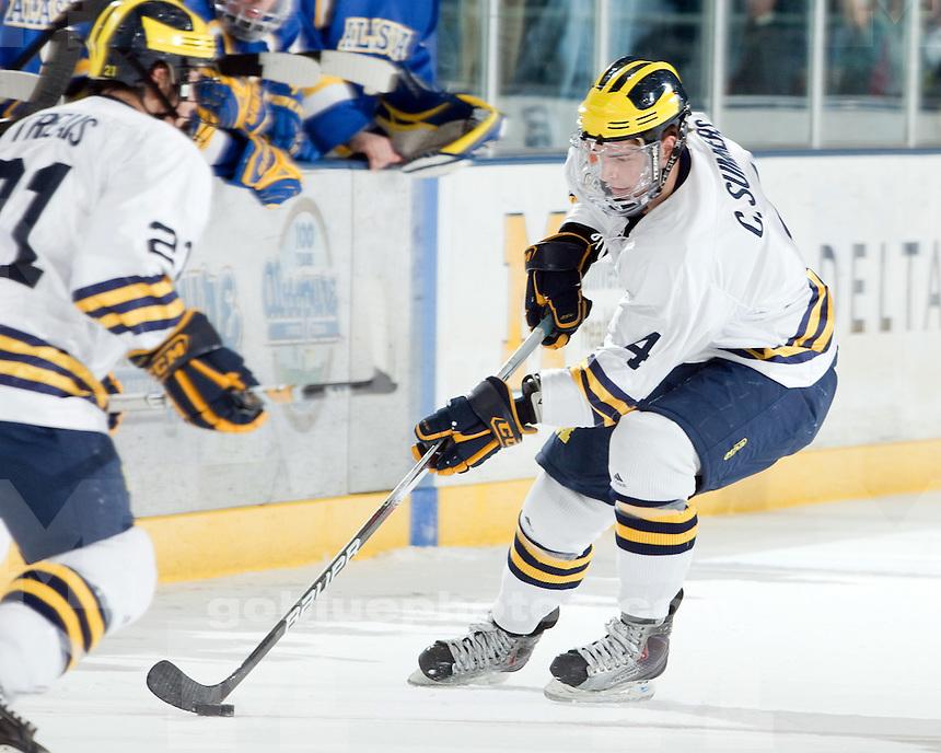1/15/2010 Michigan vs. Alaska ice hockey at Yost Ice Arena.  U-M won 6-0.
