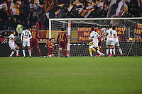 goal of Oscar Huljemark Genoa. Goal celebration.<br /> Roma 16-12-2018 Stadio Olimpico<br /> Football Calcio Campionato Serie A<br /> 2018/2019 <br /> AS Roma - Genoa<br /> Foto Antonietta Baldassarre / Insidefoto