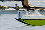 Number one, Bow number on eight-oared racing shell, Rowers, San Diego Crew Classic, regatta competition, blur motion,