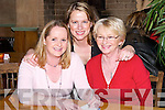NATIONAL: Eileen Kirwin, Diane Jeffers and Siobhan Kirwin supporting the Ardfert National School Table Quiz at Kate Browne's Bar & Restaurant, Ardfert, on Friday night..