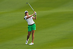 CHON BURI, THAILAND - FEBRUARY 17:  Brittany Lang of USA plays her approach shot on the 17th hole during day two of the LPGA Thailand at Siam Country Club on February 17, 2012 in Chon Buri, Thailand.  Photo by Victor Fraile / The Power of Sport Images