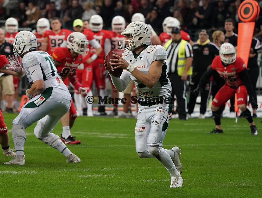 QB Jadrian Clark (Schwäbisch Hall Unicorns) - 12.10.2019: German Bowl XLI Braunschweig Lions vs. Schwäbisch Hall Unicorns, Commerzbank Arena Frankfurt