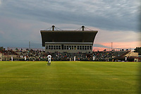 General view of a Burlington Bees Midwest League game against the Clinton LumberKings on August 30, 2019 at Community Field in Burlington, Iowa.  Clinton defeated Burlington 6-3.  (Travis Berg/Four Seam Images)