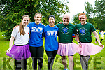 At the IT'S A KNOCKOUT in the Town Park on Sunday were Leanne Savage, Laura Brosnan, Maeve Leahy, John Leahy and Mike Leahy