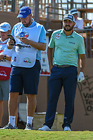 Stephan Jaeger (GER) looks over his tee shot on 16 during Round 1 of the Valero Texas Open, AT&amp;T Oaks Course, TPC San Antonio, San Antonio, Texas, USA. 4/19/2018.<br /> Picture: Golffile | Ken Murray<br /> <br /> <br /> All photo usage must carry mandatory copyright credit (&copy; Golffile | Ken Murray)