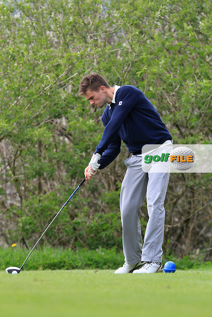 Jamie Keenan (Old Conna) on the 15th tee during Day 1 of The Munster Youths' Amateur Open Championship in Dungarvan Golf Club on Wednesday 23nd April 2014.<br /> Picture:  Thos Caffrey / www.golffile.ie
