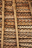 FRENCH POLYNESIA, Moorea. Thatched roof and mats at the Atitia Center.